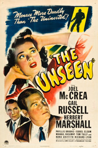"The Unseen (Paramount, 1944). One Sheet (27"" X 41""). Horror"