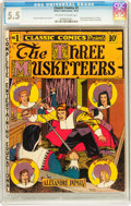 Golden Age (1938-1955):Classics Illustrated, Classic Comics #1 The Three Musketeers - First Edition (Elliott, 1941) CGC FN- 5.5 Off-white to white pages....