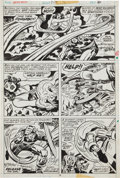 Original Comic Art:Panel Pages, Jack Kirby and Frank Giacoia Captain America #209 Arnim ZolaPage 6 Original Art (Marvel, 1977)....
