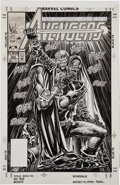 Original Comic Art:Covers, M. C. Wyman and Tom Palmer The Avengers #353 Cover OriginalArt (Marvel, 1992)....