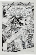 Original Comic Art:Covers, Gil Kane and Tom Palmer Tomb of Dracula #57 Cover OriginalArt (Marvel, 1977). ...