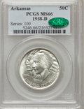 Commemorative Silver: , 1938-D 50C Arkansas MS66 PCGS. CAC. PCGS Population (106/19). NGCCensus: (42/9). Mintage: 3,155. Numismedia Wsl. Price for...