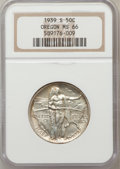 Commemorative Silver: , 1939-S 50C Oregon MS66 NGC. NGC Census: (293/101). PCGS Population(254/88). Mintage: 3,005. Numismedia Wsl. Price for prob...