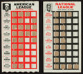 Baseball Cards:Singles (1960-1969), Rare 1967 Topps Test Punch Outs Baseball Pair (2). ...