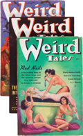 "Pulps:Horror, Weird Tales ""Red Nails"" Group (Popular Fiction, 1936) Condition:Average FN-.... (Total: 3 )"