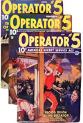 Pulps:Detective, Operator #5 Group (Popular, 1935) Condition: Average FN-....(Total: 5 Items)