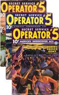 Pulps:Detective, Operator #5 Purple Invasion Group (Popular, 1936-37) Condition:FN-.... (Total: 10 Items)