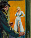 Pulp, Pulp-like, Digests, and Paperback Art, AMERICAN ARTIST (20th Century). All True Police Detective Casescover, altered version, October 1950. Oil on board. 17.5...