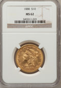 Liberty Eagles: , 1888 $10 MS62 NGC. NGC Census: (45/3). PCGS Population (33/7).Mintage: 132,996. Numismedia Wsl. Price for problem free NGC...