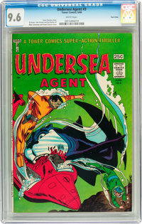 Undersea Agent #3 Twin Cities pedigree (Tower, 1966) CGC NM+ 9.6 White pages