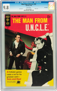 Man from U.N.C.L.E. #22 Twin Cities pedigree (Gold Key, 1969) CGC NM/MT 9.8 White pages