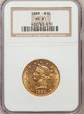 Liberty Eagles: , 1889 $10 MS61 NGC. NGC Census: (22/9). PCGS Population (24/6).Mintage: 4,485. Numismedia Wsl. Price for problem free NGC/P...