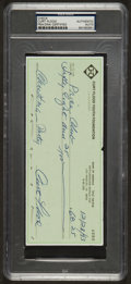 Baseball Collectibles:Others, 1993 Curt Flood Signed Check PSA/DNA Certified Authentic. ...
