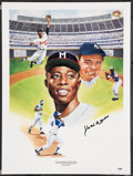 Baseball Collectibles:Others, Hank Aaron Signed Lithograph....