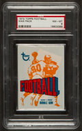 Football Cards:Singles (1970-Now), 1972 Topps Football 3rd Series Wax Pack PSA NM-MT 8. ...