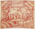 Political:Textile Display (pre-1896), Incredibly Important War of 1812-Era Bandana, Picturing JamesMadison, James Monroe, and Henry Clay. Without a doubt one of ...