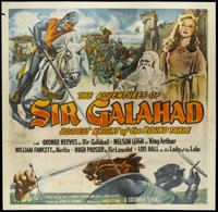 "The Adventures of Sir Galahad (Columbia, 1949). Six Sheet (81"" X 81""). Adventure. Starring George Reeves, Will..."