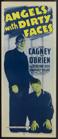"""Movie Posters:Drama, Angels With Dirty Faces (Warner Brothers, R-1956). Insert (14"""" X36""""). Crime. Starring James Cagney, Pat O'Brien, Humphrey B..."""