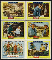 """The Big Country (United Artists, 1958). Title Lobby Card (11"""" X 14"""") and Lobby Cards (5) (11"""" X 14"""")..."""