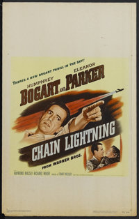 "Chain Lightning (Warner Brothers, 1949). Window Card (14"" X 22""). Action. Starring Humphrey Bogart, Eleanor Pa..."