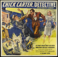 "Chick Carter, Detective (Columbia, 1946). Six Sheet (81"" X 81""). Crime. Starring Lyle Talbot, Douglas Fowley..."