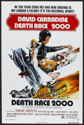 "Movie Posters:Science Fiction, Death Race 2000 (New World Pictures, 1975). One Sheet (27"" X 41"").Action. Starring David Carradine, Simone Griffeth, Sylves..."