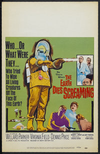 "The Earth Dies Screaming (20th Century Fox, 1965). Window Card (14"" X 22""). Horror. Starring Willard Parker, V..."
