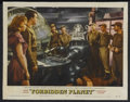 """Movie Posters:Science Fiction, Forbidden Planet (MGM, 1956). Lobby Card (11"""" X 14""""). ScienceFiction. Starring Walter Pidgeon, Anne Francis, Leslie Nielsen..."""