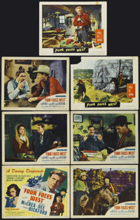 """Four Faces West (United Artists, 1948). Title Lobby Card (11"""" X 14"""") and Lobby Cards (4) (11"""" X 14"""")..."""