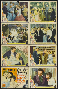 "The Great Waltz (MGM, 1938). Lobby Card Set of 8 (11"" X 14""). Musical Biography. Starring Luise Rainer, Fernan..."