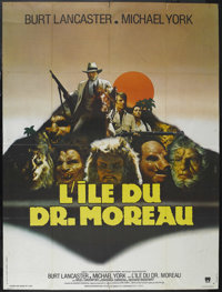"The Island of Dr. Moreau (AIP, 1977). French Grande (47"" X 63""). Horror. Starring Burt Lancaster, Michael York..."
