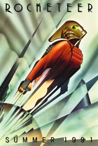 "The Rocketeer (Walt Disney Pictures, 1991). One Sheets (2) (27"" X 40"") SS Advance and DS Regular Style. ... (T..."