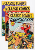 Golden Age (1938-1955):Classics Illustrated, Classic Comics Group (Gilberton, 1940s-50s) Condition: Average VG.... (Total: 10 Comic Books)