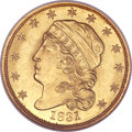 Early Quarter Eagles, 1831 $2 1/2 MS64 NGC. CAC. BD-1, R.4....