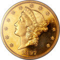 Proof Liberty Double Eagles, 1897 $20 PR65 Deep Cameo PCGS Secure....