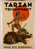 Books:Science Fiction & Fantasy, [Jerry Weist]. Edgar Rice Burroughs. Tarzan Triumphant. Tarzana: Edgar Rice Burroughs, [1932]. First edition, first ...