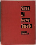 "Books:Americana & American History, Edward Van Every. Sins of New York. As ""Exposed"" by thePolice Gazette. New York: Stokes, 1930. First edition. Q..."