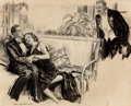 "Pulp, Pulp-like, Digests, and Paperback Art, JAMES MONTGOMERY FLAGG (American, 1877-1960). ""I Believe This isMy Dance Countess"", Catfish and the Countess, Collier's m..."