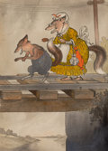 Pulp, Pulp-like, Digests, and Paperback Art, HARRISON CADY (American, 1877-1970). Reddy Fox, interior storyillustration. Pen, watercolor, and ink wash on board. 18 ...