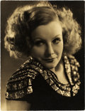 "Movie Posters:Photo, Greta Garbo by Clarence Sinclair Bull (MGM, Circa 1930). PortraitPhoto (9.75"" X 12.75"").. ..."