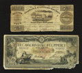 Canadian Currency: , Toronto, ON- Canadian Bank of Commerce $10 Jan. 2, 1917 Ch.75-16-02-06. Montreal, LC- Champlain & St. Lawrence RailRoad... (Total: 2 notes)