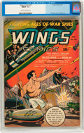 Golden Age (1938-1955):War, Wings Comics #29 (Fiction House, 1943) CGC FN/VF 7.0 Cream tooff-white pages....