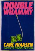 Books:Mystery & Detective Fiction, Carl Hiaasen. SIGNED. Double Whammy. New York: Putnam's,[1987]. First edition. Signed by the author on the title-...