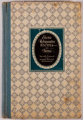 Books:Food & Wine, [Cookery]. Miss Alice Bradley. Electric Refrigerator Recipes andMenus. Recipes prepared especially for the General Elec...