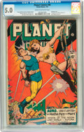 Golden Age (1938-1955):Science Fiction, Planet Comics #46 (Fiction House, 1947) CGC VG/FN 5.0 Cream tooff-white pages....
