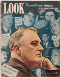 Books:Americana & American History, [Magazines]. Lot of 5 issues of Look Magazine. Des Moines:Look, Inc., 1937-1940. Five folio issues. Publisher's wra...