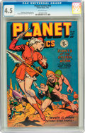 Golden Age (1938-1955):Science Fiction, Planet Comics #55 (Fiction House, 1948) CGC VG+ 4.5 Off-whitepages....
