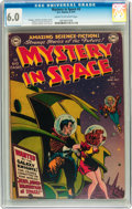 Golden Age (1938-1955):Science Fiction, Mystery in Space #2 (DC, 1951) CGC FN 6.0 Cream to off-white pages....