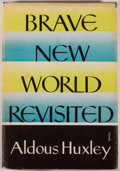 Books:Social Sciences, Aldous Huxley. Brave New World Revisited. New York: Harper,[1958]. First American edition. Octavo. 147 pages. P...