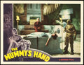 "Movie Posters:Horror, The Mummy's Hand (Universal, 1940). Lobby Card (11"" X 14"").. ..."